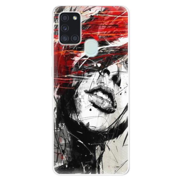 Odolné silikonové pouzdro iSaprio - Sketch Face - Samsung Galaxy A21s
