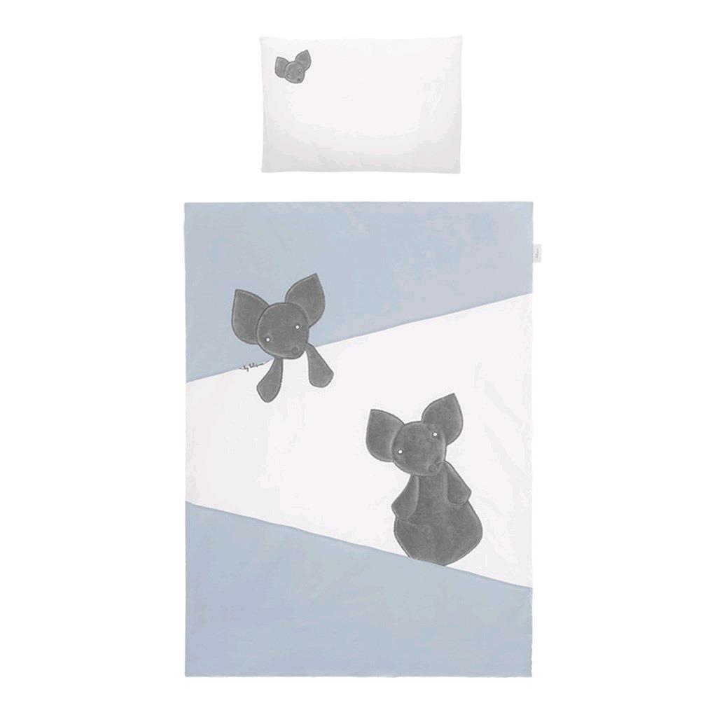 5-dílné ložní povlečení Belisima Mouse 100/135 - modrá