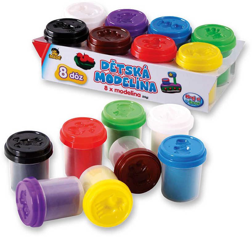 Modelína (plastelína) sada větší 8 barev