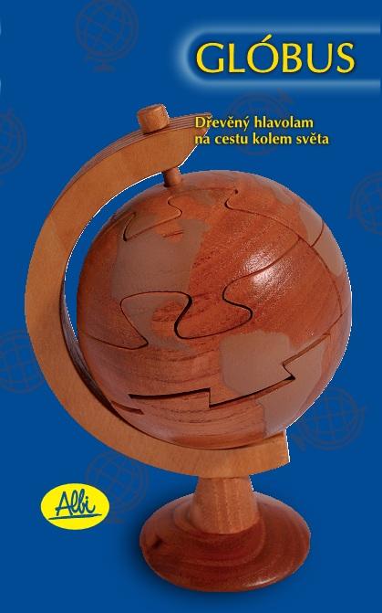 Velký dřevěný globus