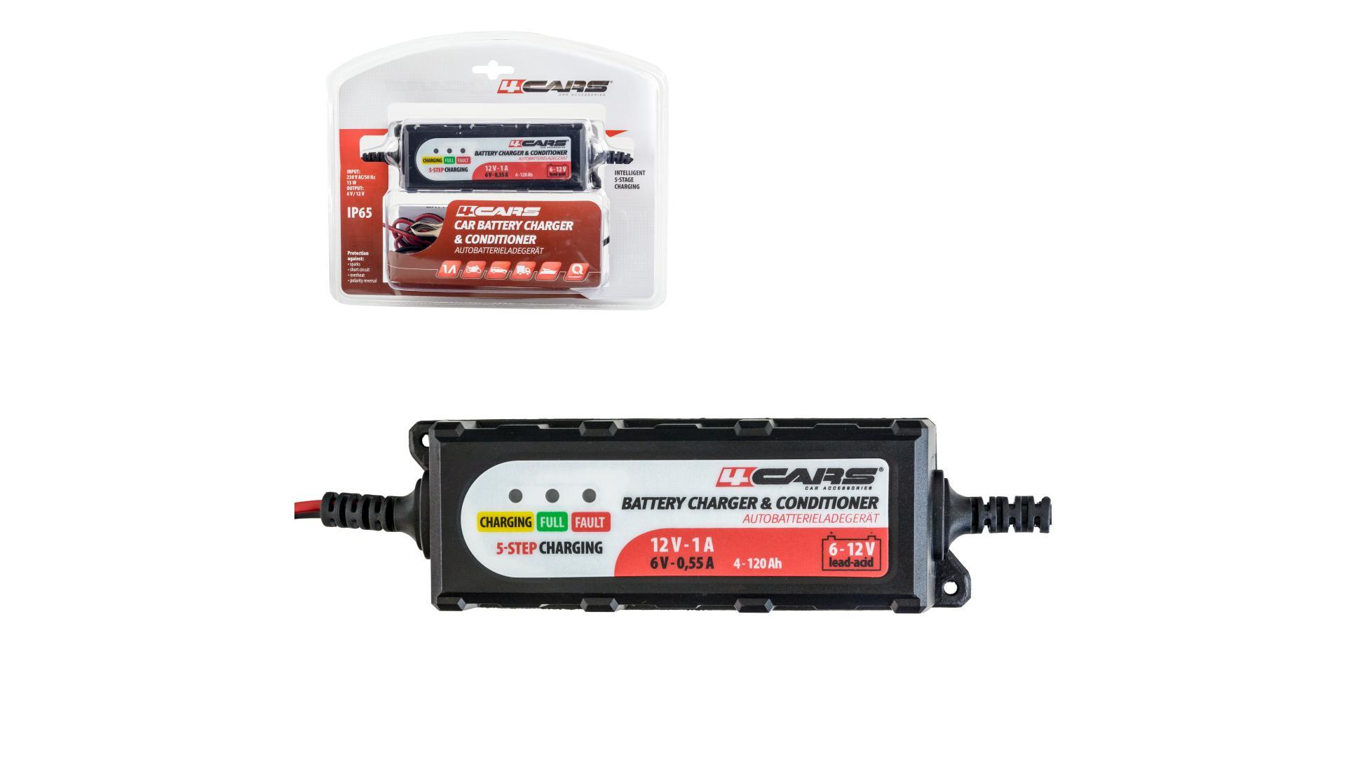 4CARS Inteligentní 5-stupňová nabíječka-udržiavačka Z10 6/12 V; 2,0 A (gelové a tekuté autobatérie)