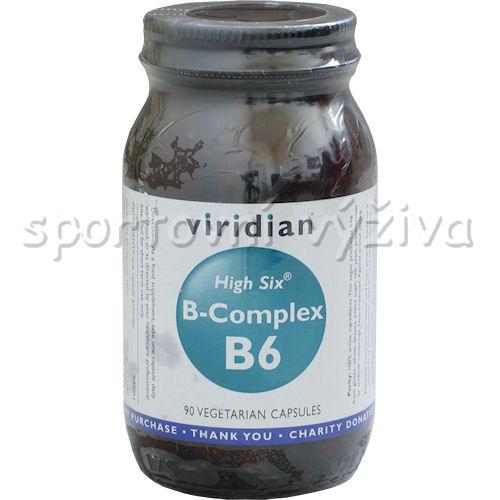 Viridian High Six B-Complex B6 90 kapslí