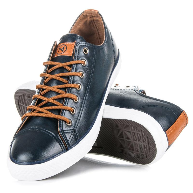 Pánské boty AH16-7930N - McKeylor - Tm. modrá-bílá/44