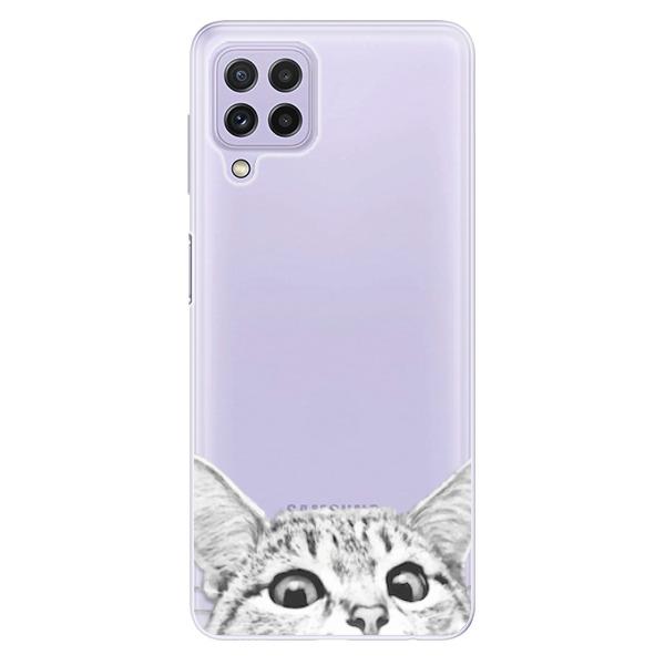 Odolné silikonové pouzdro iSaprio - Cat 02 - Samsung Galaxy A22