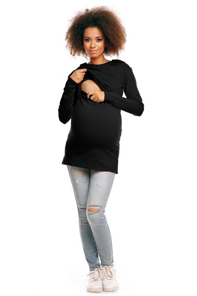 Be MaaMaa Těhotenské/kojící triko s kapucí