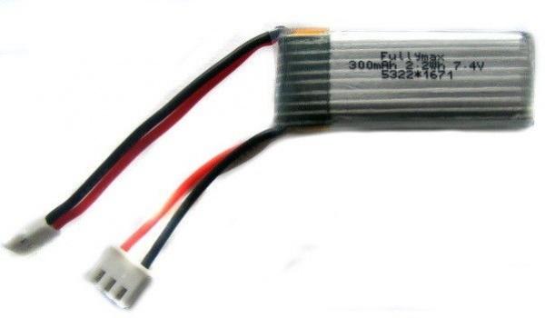 300mAh 7.4V LiPo Molex/Walkera - WL F959-010