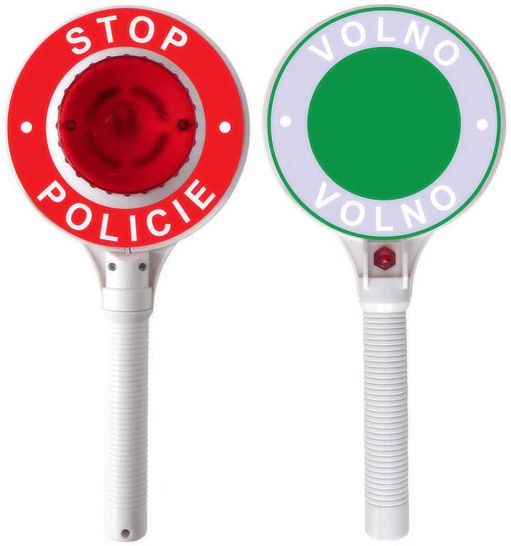 Zastavovací dětský plastový terč policie na baterie světlo (plácačka)