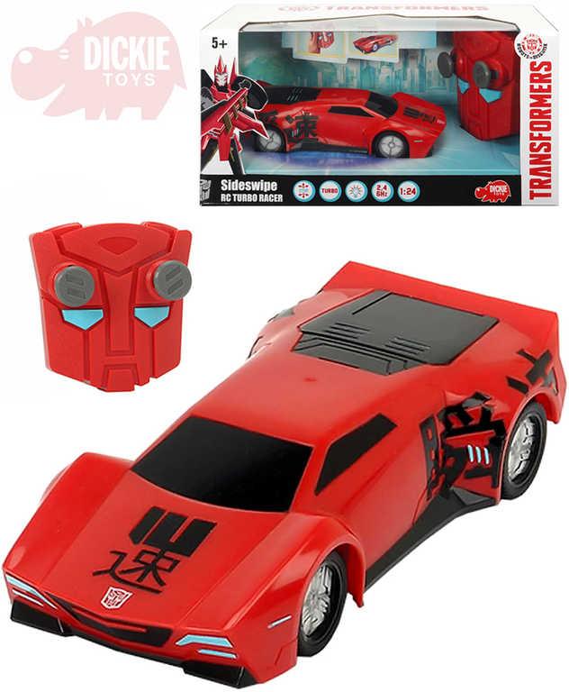 DICKIE Transformers RC Auto Turbo Racer Sideswipe na vysílačku 2.4GHz Světlo