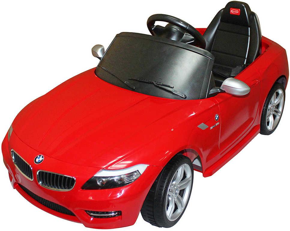 RC Auto červené BMW Z4 6V na vysílačku mp3 dětské ELEKTRICKÉ VOZIDLO