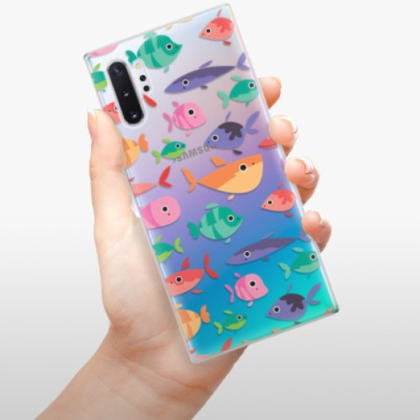 Odolné silikonové pouzdro iSaprio - Fish pattern 01 - Samsung Galaxy Note 10+