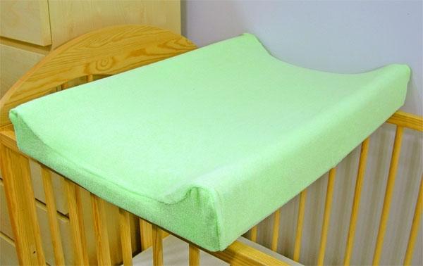 Jersey potah na přebalovací podložku zelený