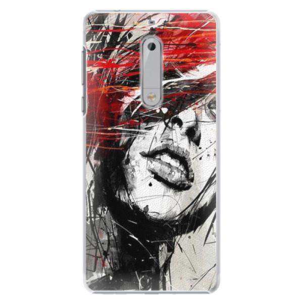 Plastové pouzdro iSaprio - Sketch Face - Nokia 5