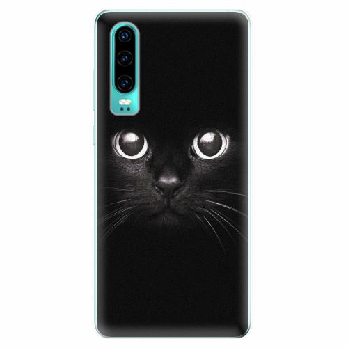 Silikonové pouzdro iSaprio - Black Cat - Huawei P30