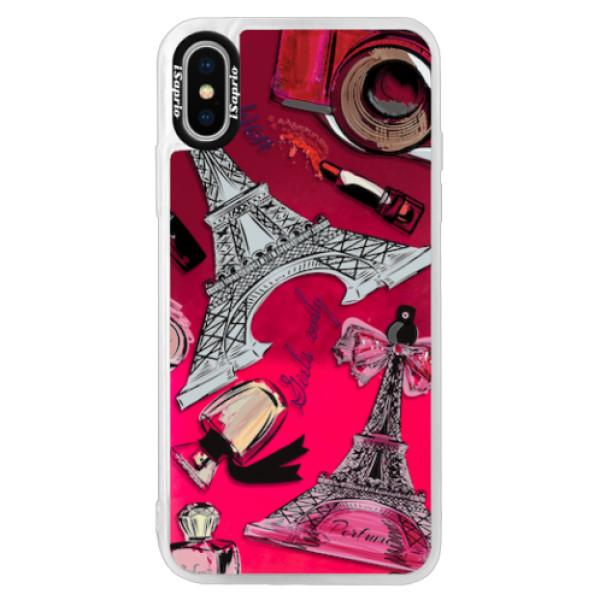 Neonové pouzdro Pink iSaprio - Fashion pattern 02 - iPhone X