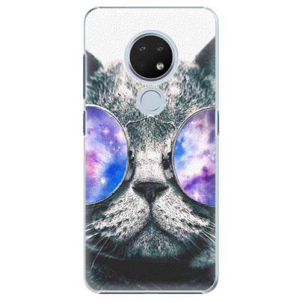 Plastové pouzdro iSaprio - Galaxy Cat - Nokia 6.2