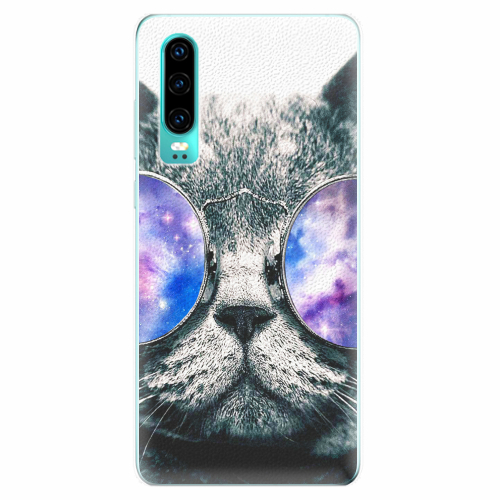 Silikonové pouzdro iSaprio - Galaxy Cat - Huawei P30