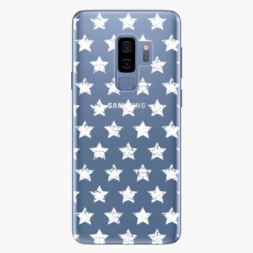Plastový kryt iSaprio - Stars Pattern - white - Samsung Galaxy S9 Plus