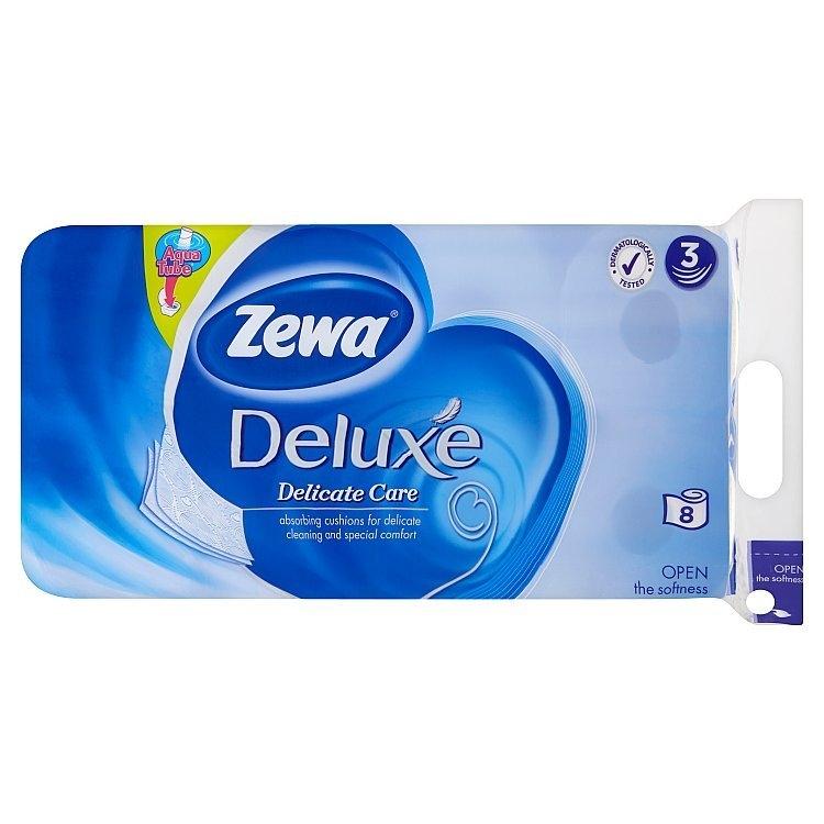 Deluxe delicate care - toaletní papír, bez parfemace, bílý 3vrstvý 8x150