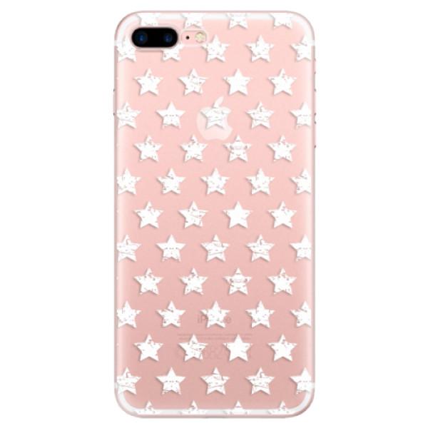Odolné silikonové pouzdro iSaprio - Stars Pattern - white - iPhone 7 Plus