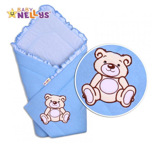 Zavinovačka Medvídek -Teddy Bear - jersey - modrá