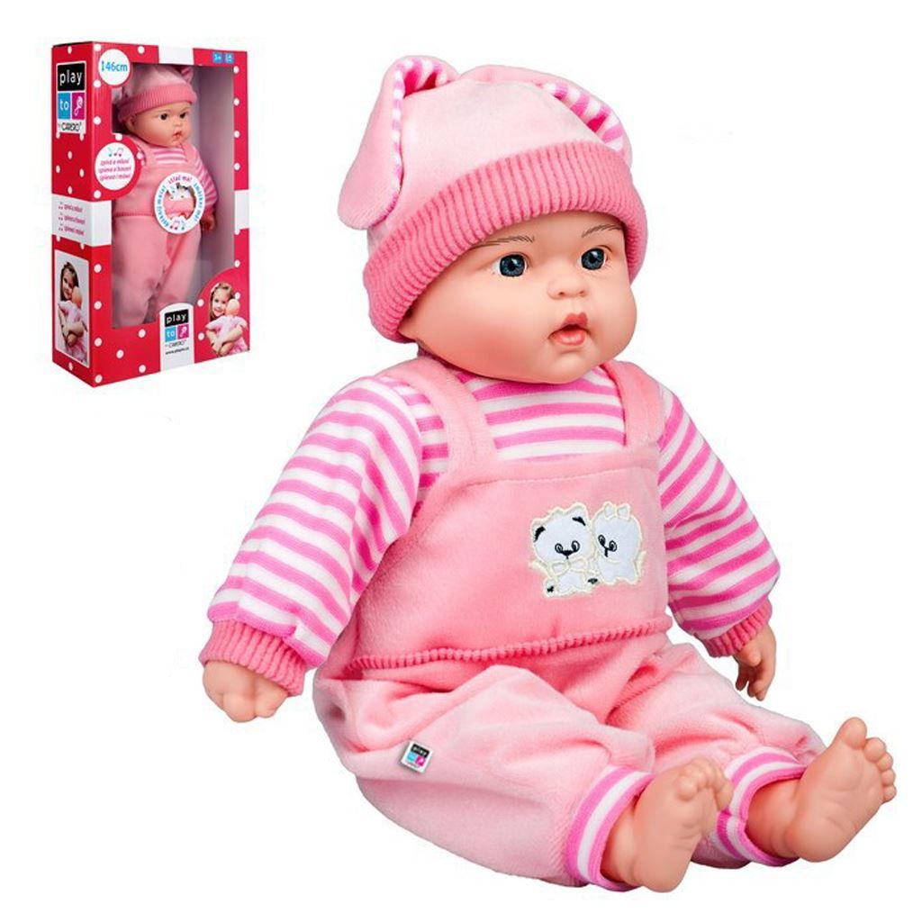 Polsky mluvící a zpívající dětská panenka PlayTo - Agatka 46 cm - růžová