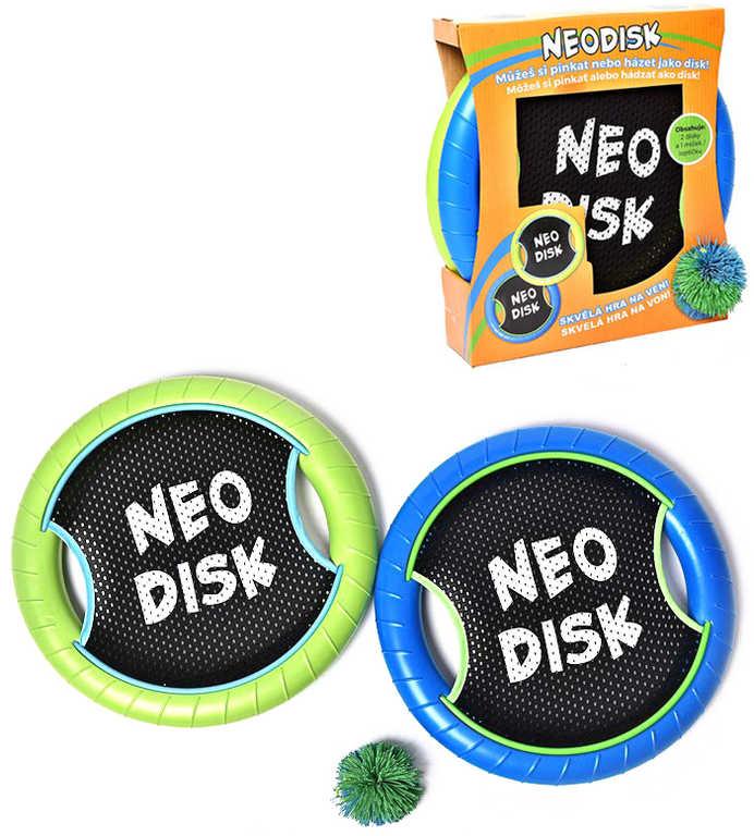 Neodisk 31cm set 2ks s míčkem 2v1 disk a pálka v jednom