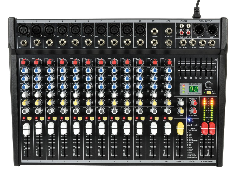 Citronic CSL-14 Kompaktní mixážní pult s DSP