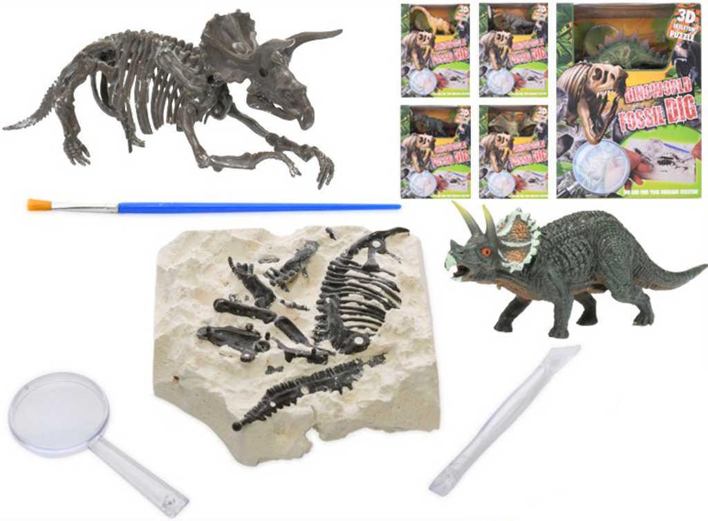 Dinosaurus v sádře herní set s dlátem a doplňky malý archeolog různé druhy