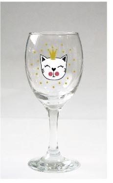 Sklenice na víno - Kočka
