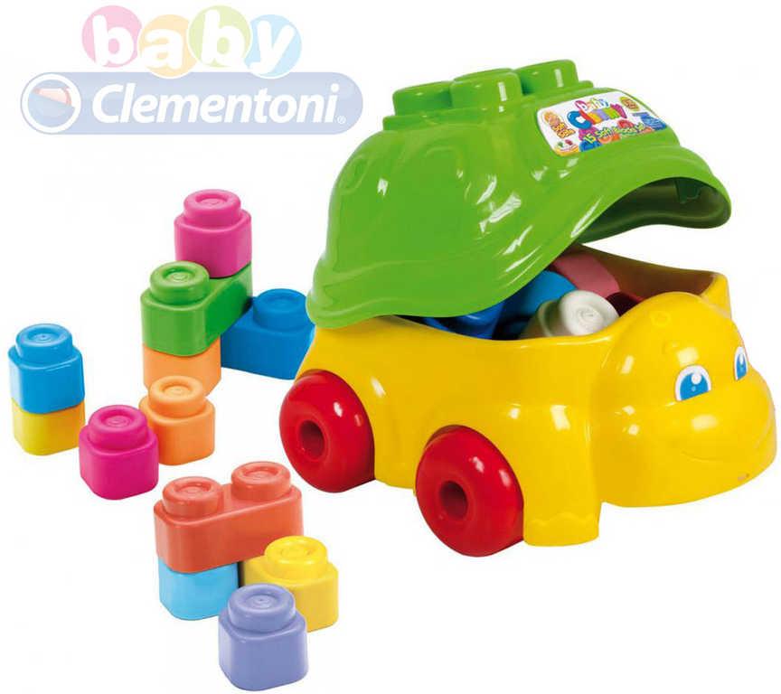 CLEMENTONI CLEMMY Baby Tahací želva na kolečkách set s 15 vonícími kostkami