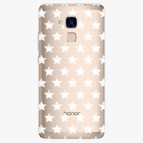 Plastový kryt iSaprio - Stars Pattern - white - Huawei Honor 7 Lite