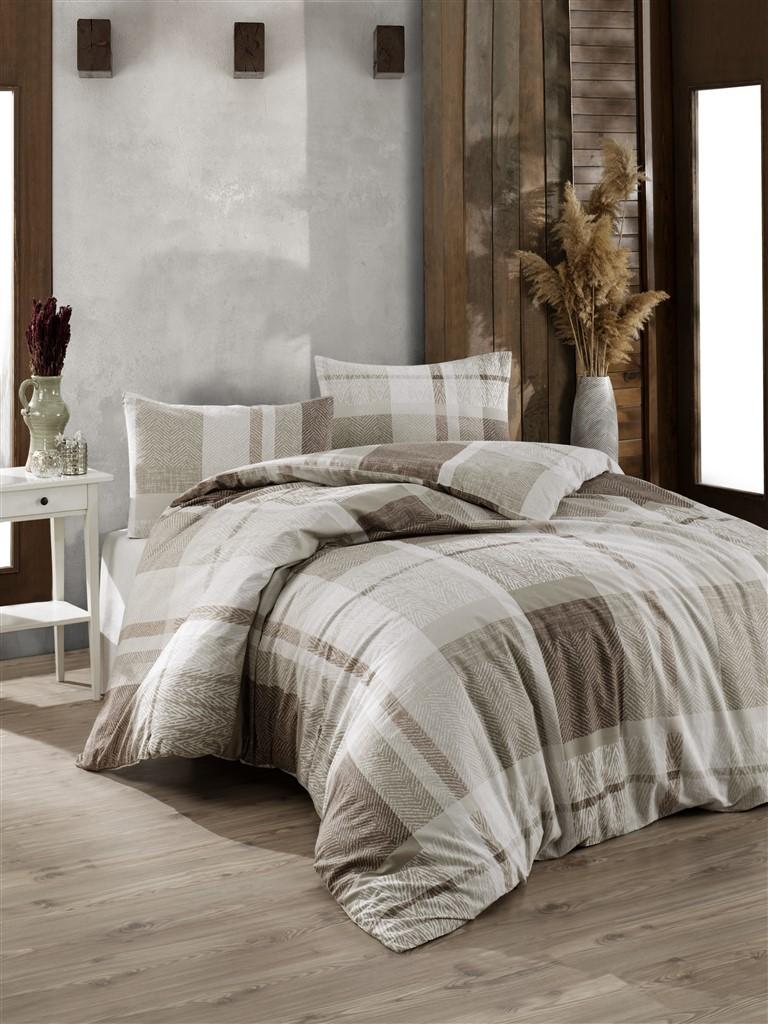Povlečení francouzské bavlna 220x220,70x90 Alegro natur, Výběr zapínání: