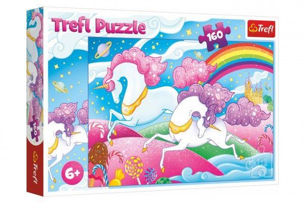 Puzzle Cválající jednorožci 160 dílků v krabici