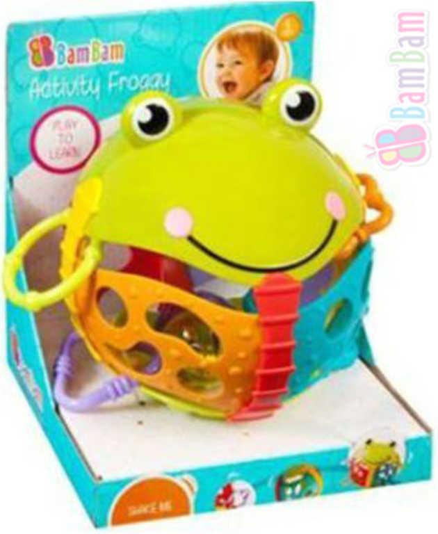 ET BAM BAM Baby Žabka Chrastítko aktivní s rolničkou pro miminko