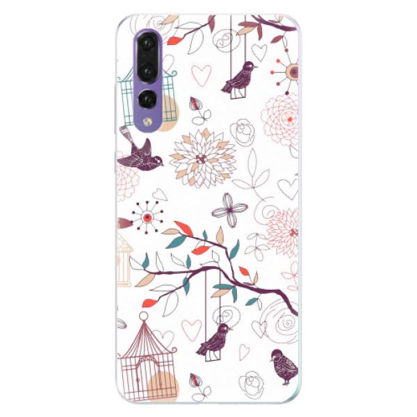 Silikonové pouzdro iSaprio - Birds - Huawei P20 Pro