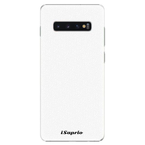 Plastové pouzdro iSaprio - 4Pure - bílý - Samsung Galaxy S10+