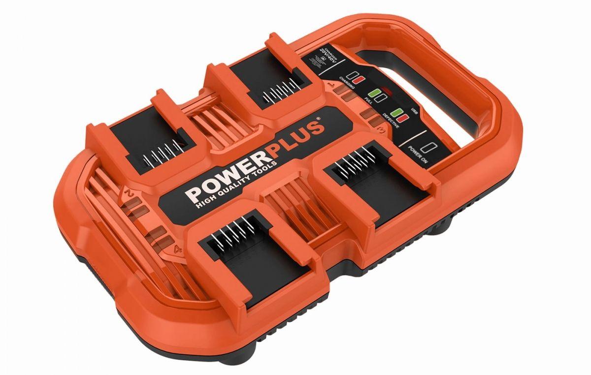 Powerplus nabíječka na 4 baterie - 20/40 V