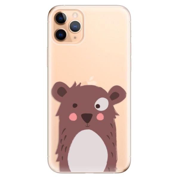Odolné silikonové pouzdro iSaprio - Brown Bear - iPhone 11 Pro Max