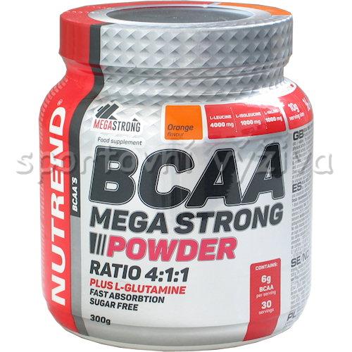 BCAA Mega Strong Powder 300g AKCE-pomeranc
