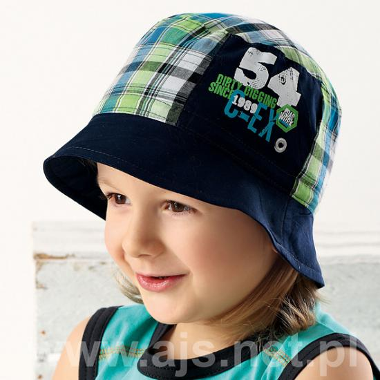 Dětský klobouček 34-206 - AJS - Modro-zelená/52