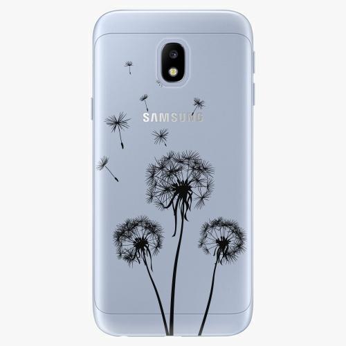 Three Dandelions   black   Samsung Galaxy J3 2017
