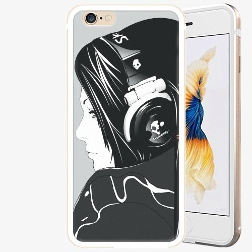 Plastový kryt iSaprio - Headphones - iPhone 6/6S - Gold