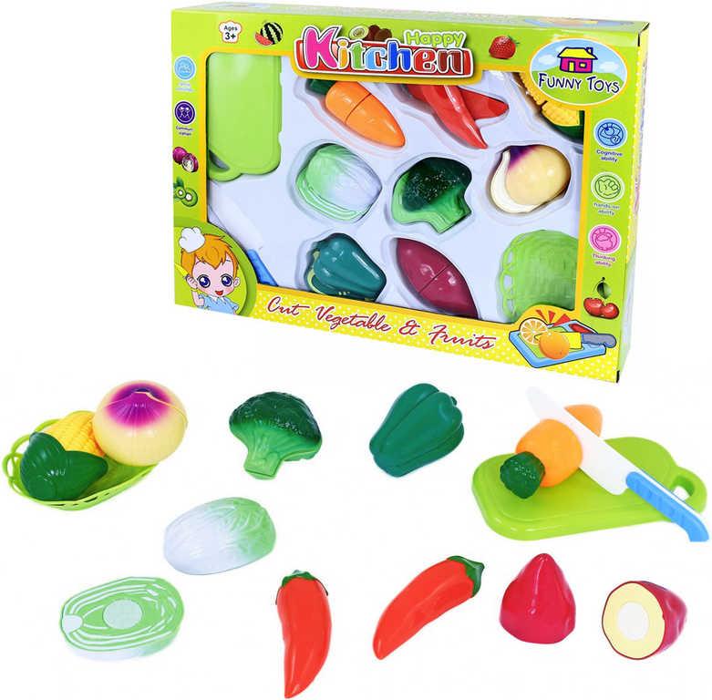 Sada kuchyňská plastová krájecí zelenina na suchý zip s nožíkem a doplňky 11ks