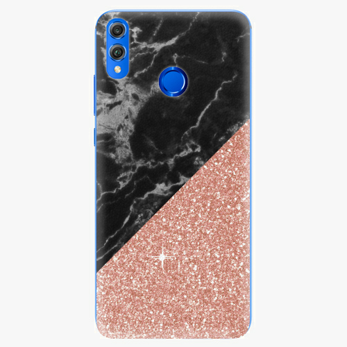 Rose and Black Marble   Huawei Honor 8X