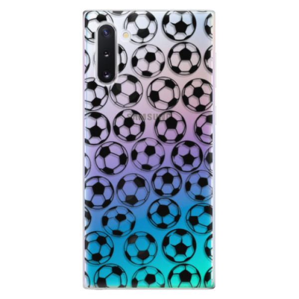 Odolné silikonové pouzdro iSaprio - Football pattern - black - Samsung Galaxy Note 10