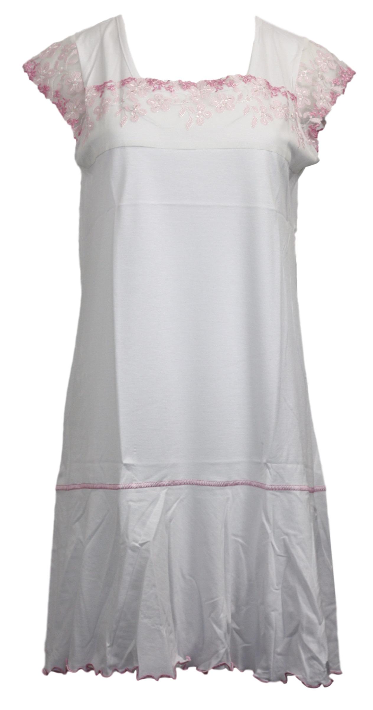 Dámská noční košile F-1037/1 - Prako - Bílá/M