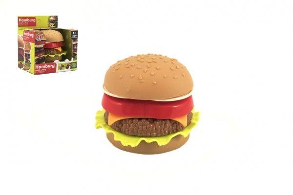 Hamburger plast skládací v krabičce 11 x 12 x 9 cm