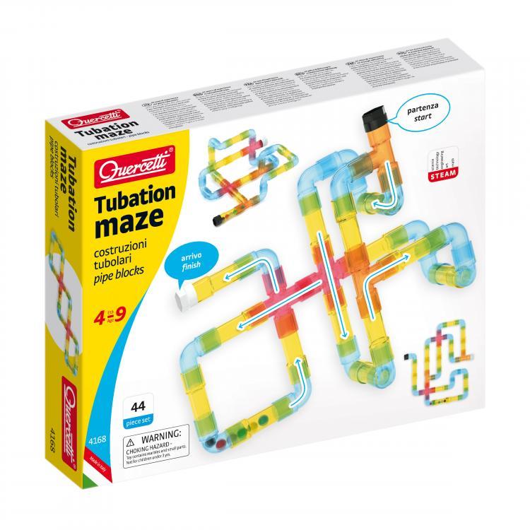 Quercetti Tubation Maze transparentní 44 ks