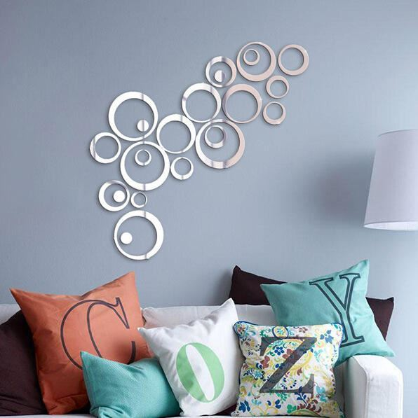 Nálepky na zeď/zrcadlo - kruhy