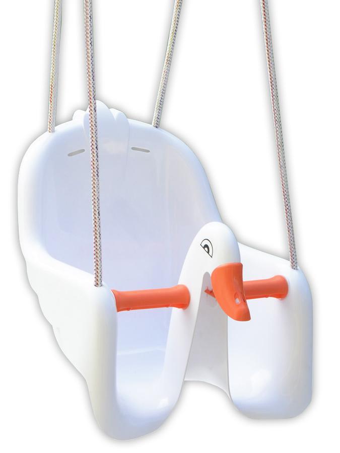 Dětská houpačka Labuť - bílá